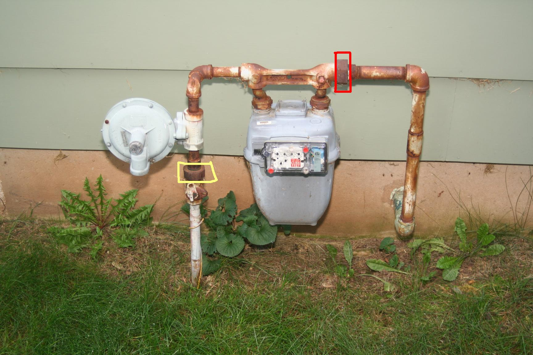 Images of Gas Meter On House & Gas Meter: Gas Meter On House
